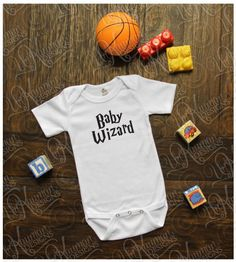 Harry Potter Inspired  Baby Wizard  Baby Onesie by UnKaumanDesigns
