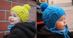 Вязание спицами шапочки косами для мальчиков
