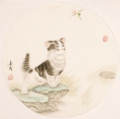 Cats - CNAG001465 Chinese Painting, Hand Painted, Cats, Artist, Animals, Paintings, Tattoo, Image, Cat Paintings