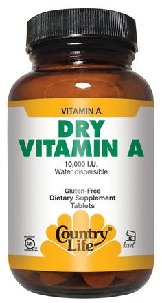 Great product for help with chronic acne. - Country Life,  Dry Vitamin A 10,000  I.U. , Tablets, 100-Count