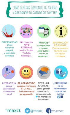 8 claves para generar contenido de calidad en Twitter. Infografía en español #CommunityManager