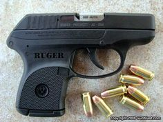 Ruger LCP .380 It feels comfortable in my hand. This just needs the crimson trace and the longer mag.