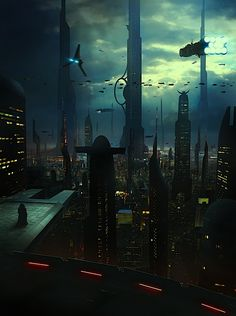 Coruscant by Matthieu Rebuffat - if there was a sci-fi place i'd want to exist... this would be it