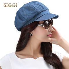 SIGGI Women cotton visor beret newsboy hat summer cap for girls spring gavroche vintage fashion 69010