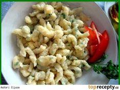 Špecle, noky, Spaetzle Snack Recipes, Healthy Recipes, Snacks, Czech Recipes, Ethnic Recipes, Gnocchi, Dumplings, Pasta Salad, Cauliflower