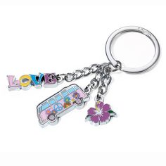 NEW KEY RING PURPLE VW CAMPER VAN KEYRING