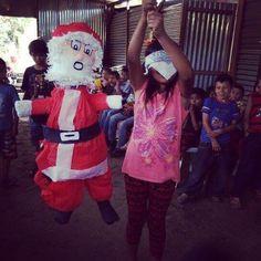 The annual Christmas party is underway! #joy #happy #grateful #love #merrychristmas #nicaragua #ienrich #kids #piñata #fun