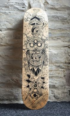 Skateboard deck by Dan Shearn from Red Central The Daily Board: follow…