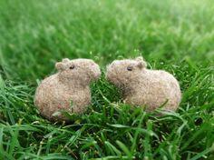 Capybara sanctions   Wool felt   Hemomofu   Handmade mail order / sale Creema