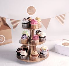 Yummy... Sugar rush in the morning!   A cupcake stand is the perfect way to display your cupcakes Shop now: http://selfpackaging.com/2231-cupcake-stand-193.html // #cupcakes #cupcakestand #baking #yummy #partyideas