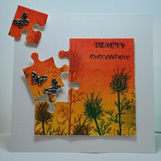 Eileen's Crafty Zone: PanPastels, Quickutz Jig-saw Die, Lavinia Stamp ...... and Val's gorgeous cards from Workshop 1.