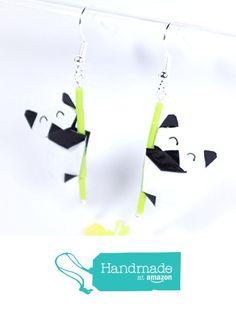 Boucles d'oreilles pandas contents en origamis à partir des LePaslaid https://www.amazon.fr/dp/B01M0M2S5S/ref=hnd_sw_r_pi_dp_y5jFyb2PGH6RQ #handmadeatamazon