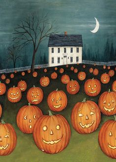 Toland Home Garden Pumpkin Hollow House 28 x Decorative USA-Produced House Flag Retro Halloween, Spooky Halloween, Halloween Prints, Halloween Pictures, Holidays Halloween, Halloween Pumpkins, Happy Halloween, Halloween Decorations, Halloween Stuff