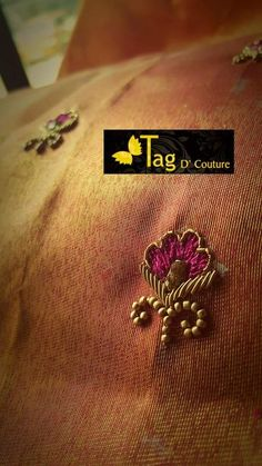 Colors & Crafts Boutique™ offers unique apparel and jewelry to women who value versatility, style and comfort. We specialize in customized attires crafted in high quality fabric and craftsmanship. Please note: These are not our designs. We can custom make Zardosi Embroidery, Embroidery On Kurtis, Hand Embroidery Dress, Kurti Embroidery Design, Bead Embroidery Patterns, Embroidery Works, Hand Work Blouse Design, Fancy Blouse Designs, Simple Embroidery Designs