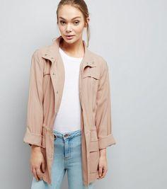Shell Pink Drape Shacket | New Look