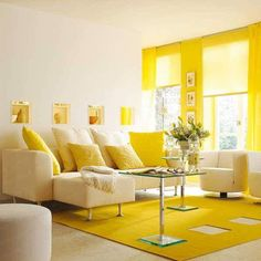 Feel energized with this bright yellow living room design?  www.sofu.com.hk    ;     www.facebook.com/sofulifestyle    ;    www.instagram.com/sofulifestyle   ;    www.twitter.com/sofulifestyle     ;     www.tumblr.com/blog/sofulifestyle