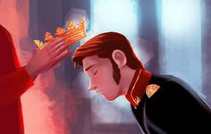 Prince Hans being crowned king. I can see him finding redemption and finding real love with a princess or young queen somewhere. Since he was mistreated by his brothers and had a lack of affection. Disney Fan Art, Disney Love, Disney Frozen, Disney Pixar, Frozen 2013, Elsa Frozen, Prince Hans, Jelsa, Frozen Hans