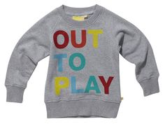 out to play sweatshirt. wish this came in adult sizes