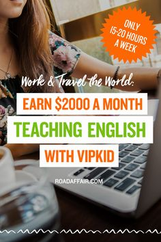 Earn over $2000 a month teaching English online with VIPKID. Stay at home with your kids, sustain your travels or become a digital nomad with VIPKID. Want to learn more about this awesome opportunity? Click the pin!