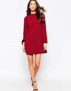 ASOS Tall | ASOS TALL Shift Dress with Flared Sleeves at ASOS