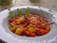 Sommerlicher Eintopf mit Zucchini und Tomate, ein leckeres Rezept aus der Kategorie Schnell und einfach. Bewertungen: 42. Durchschnitt: Ø 4,0.