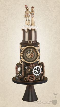 Indian Weddings Inspirations. Brown Wedding Cake. Repinned by #indianweddingsmag indianweddingsmag.com #weddingcake