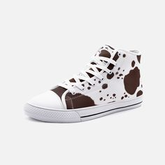 Short Cowgirl Boots, Cow Decor, Cow Pattern, Cute Cows, Cow Print, Snug Fit, High Tops, High Top Sneakers, Angels