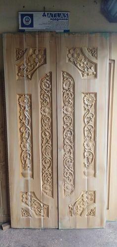 Wooden Front Door Design, Double Door Design, Wooden Front Doors, Cnc Wood, Double Doors, Woodworking, Carving, Texture, Furniture
