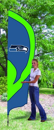 Seattle Seahawks NFL Tall Team Flag with Pole