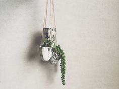 Small Hanging Planter Succulent Planter Black di PotteryLodge