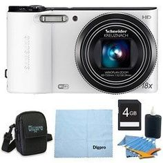 Samsung WB150F Smart Wi-Fi Digital Camera Deluxe Bundle With 4 GB Secure Digital High Capacity (SDHC) Memory Card, Digpro Compact Camera Deluxe Carrying Case, Cleaning Kit WHITE by Samsung. $139.00. Capture Brilliant Photos and Instantly Set them Free The WB150F Samsung SMART Camera uses a powerful 18x optical zoom to take brilliant photos and share them instantly with family and friends. Using the camera?s built-in wireless functionality, you can upload high quality photo...