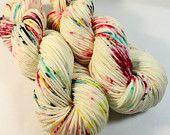 SW Merino Worsted - 218 yards - Hand Dyed Superwash Merino Yarn - Graffiti