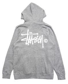Stussy Basic Logo Pullover Hoodie (Grey/White) Brand New Authentic SIZE MEDIUM #Stussy #Hoodie