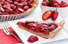 ízharmonikus: Epres pite Tart, Pie, Cupcakes, Cookies, Foods, Torte, Crack Crackers, Food Food, Cake