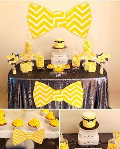 Bow Tie Themed 1st Birthday Party with tons of cute ideas! Via Kara's Party Ideas KarasPartyIdeas.com #babyshower #babyshowerideas #bowtiebabyshower #birthdaypartyideas