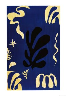 """Composition Fond Bleu"" by Henri Matisse"