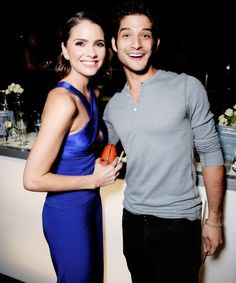 Shelley Hennig and Tyler Posey -  DailyMail's after party for 2016 People's Choice Awards at Club Nokia on January 6, 2016 in Los Angeles, California.
