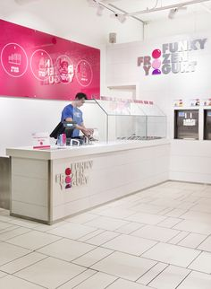 Funky Frozen Yogurt (Retail Identity) by Grid Design, via Behance