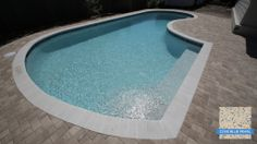 This is Sunstone Pearl Cove Blue in its natural state, right after the pool was filled. Once you add landscaping and decor, the water color will vary throughout the day. #swimmingpools #pools