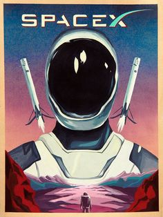 'Elon Musk Starman Spacex' Poster by Starjet-Pilot Arte Sci Fi, Cartoon Mignon, Ancient Astronaut Theory, Science Fiction Art, Science Art, Beautiful Posters, Space And Astronomy, Retro Wallpaper, Interesting History