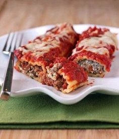 Beef and Sausage Manicotti…this filling sounds good.