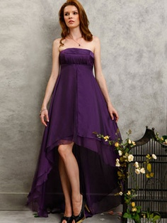 Wholesale Strapless Asymmetric Wholesale Evening / Prom / Homecoming / Wedding Party / Military Ball Dress