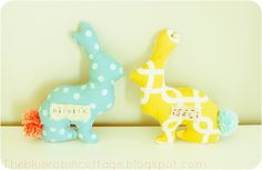 Bunny soft toy DIY on Blue Robin Cottage Sewing Blogs, Sewing Crafts, Sewing Projects, Craft Projects, Craft Ideas, Sewing Diy, Crafts To Do, Diy Crafts, Handmade Halloween Costumes