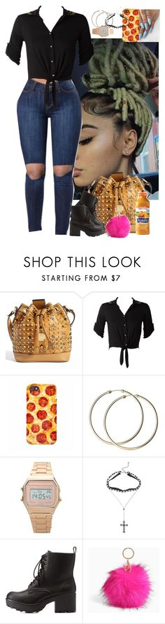 """""""Untitled #4066"""" by astoldby-kay ❤ liked on Polyvore featuring MCM, Hot Topic, Charlotte Russe, Torrid and MANGO"""