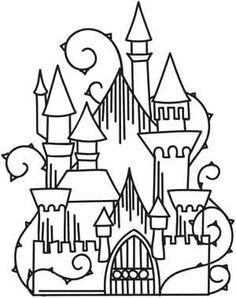 Enchanted Castle | Urban Threads: Unique and Awesome Embroidery Designs