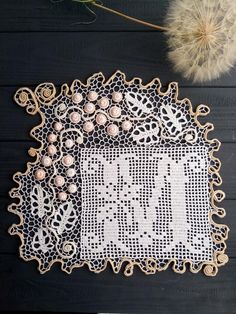 irish lace crochet Exclusive work of authorship. This napkin is crocheted using the Irish lace and fillet technique. High-quality cotton was used by the manufacturer o Freeform Crochet, Thread Crochet, Filet Crochet, Irish Crochet, Crochet Doilies, Crochet Lace, Crochet Patterns Amigurumi, Crochet Toys, Bruges Lace