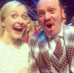 """Pin for Later: The National TV Awards Instagram Moments You Don't Want to Miss! Fearne Cotton and Leigh Francis """"Loser faces"""""""