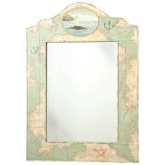 Map Mirror -- like the idea of covering an old ugly mirror with a map