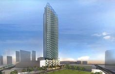 A rendering of a 46-story luxury apartment tower that Zom is developing at 80 SW 8th Street in the Brickell corridor.