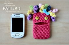 New Pattern – Crochet Hairy Monster Cell Phone Cover « Pattern « Zoom Yummy – Crochet, Food, Photography